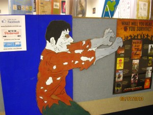 Ida Rupp Public Library-Port Clinton,OH-Amber Cupp-Zombie Guy and RH Poster