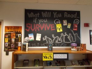 Cherry Creek High School Library-Greenwood Village, CO-Annie Campbell-Zombie Display