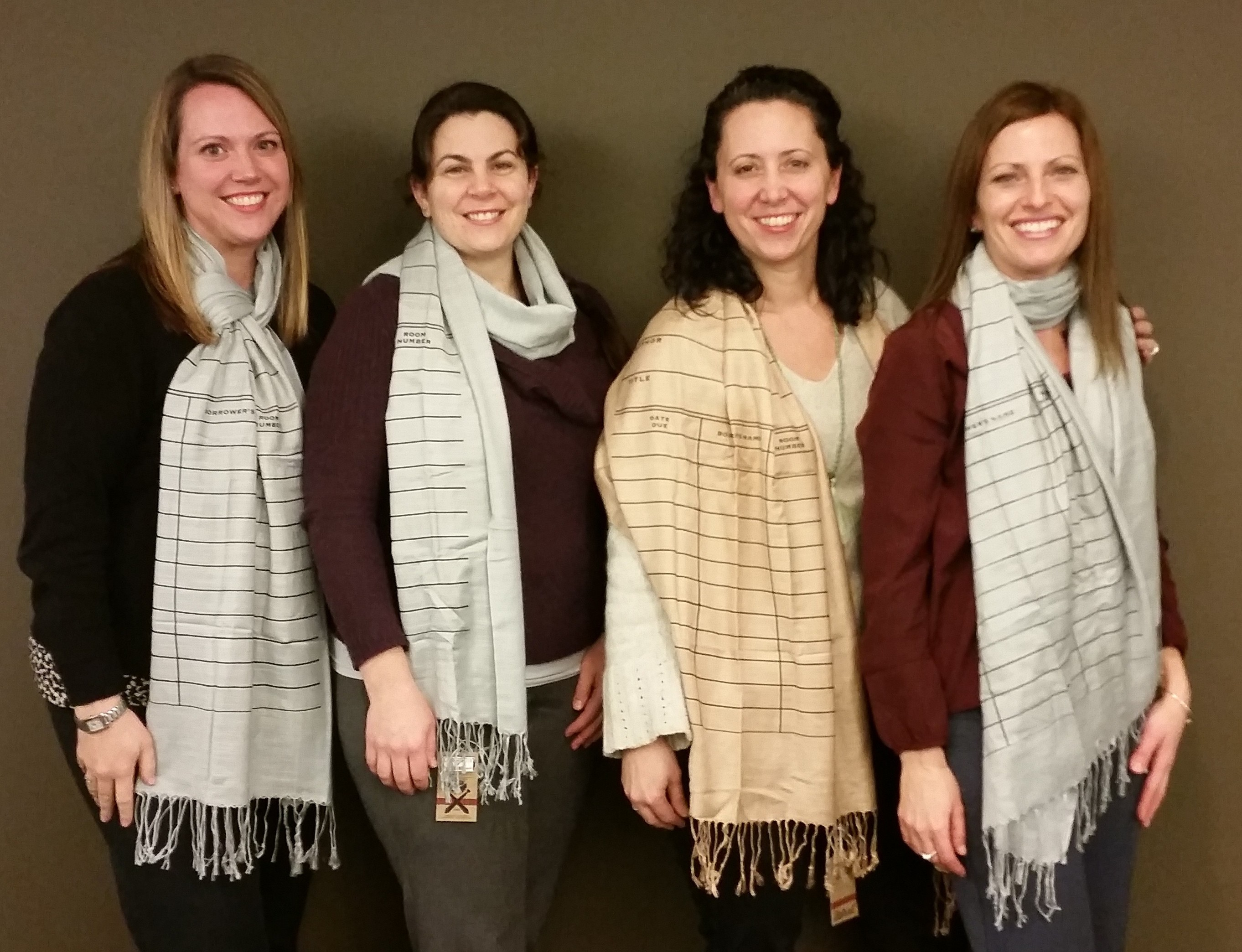 Library Ladies Wear a Library Scarf 2015