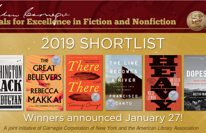 The 2019 Andrew Carnegie Medals Shortlist Announced